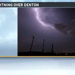 Our @WFMY weather spotter Matt Taylor sent us this sweet lightning shot last night from Denton. Impressive! #ncwx http://t.co/gpBYluKJX8