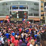 Panoramic shot of scene at Microsoft Square at @LALIVE for #USWNT championship rally in DTLA. Place is packed! http://t.co/froyci7Q4t