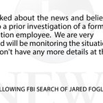 "Subway ""shocked"" and ""very concerned"" after FBI search of Jared Fogles home - @darrenrovell http://t.co/g2euDneRdk http://t.co/S8a0OvpeID"