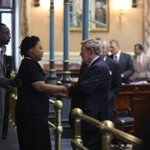Rev. Pinkneys widow at the SC Senate today as it voted to take down the Confederate flag. (via @thestate) http://t.co/2YNm4KB9n0