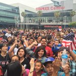 Fans are ready to celebrate! #USWNT #WorldCup @KNX1070 http://t.co/34tbkqME58