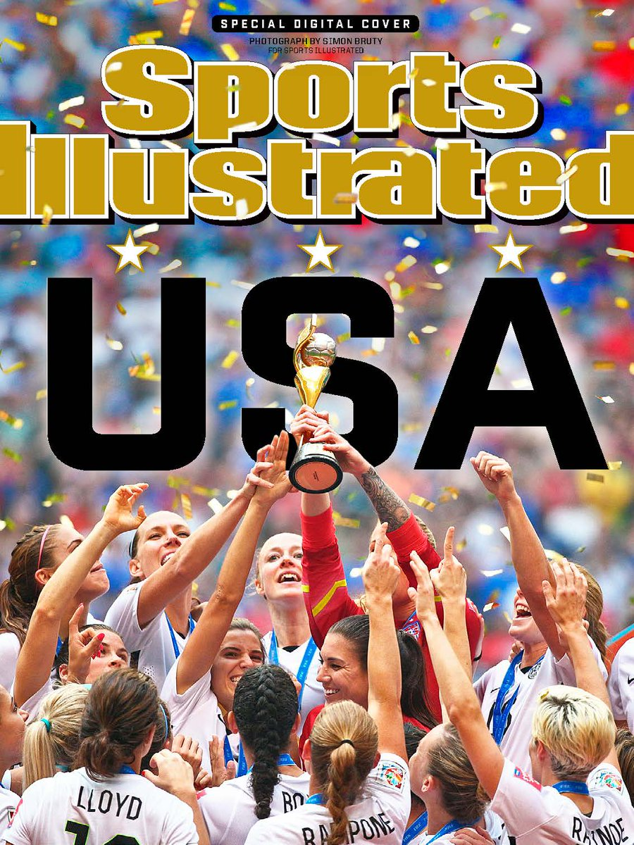 RT @SInow: There's no magazine this week, but that's not going to stop us from celebrating the USWNT!