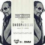 LA !! catch me #DJSNOOPADELIC live TONITE @ArgyleHollywood s/o @BigPercyRMM does it again http://t.co/t3kmuwVnIl