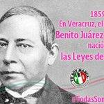 En 1859 en Veracruz, el Presidente Don Benito Juárez anuncia a la nación las Leyes de Reforma @RosyPete74 @DKVR09 http://t.co/Y0CNY1oHpB