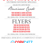 Dont miss out on these fantastic #print #specials! http://t.co/LdMPdbYkzp #CapeTown #capetownprinting #copycatzcafe http://t.co/0pACSHt5Z3