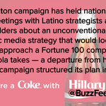 Hillary Clinton Could Run Her Hispanic Media Strategy Like Coca-Cola http://t.co/WweGKZMak6 via @buzzfeednews http://t.co/juDgeKynPs