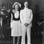 """""""Shes the girl I want to marry."""" Jimmy Carter after 1st date with Rosalynn, 1944. They wed #OTD 1946! @CarterLibrary http://t.co/kf2ZDsET38"""