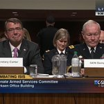 #SecDef Carter & @Martin_Dempsey testify on #ISIS @ #SASC, @SenJohnMcCain chairs – LIVE C-SPAN http://t.co/YwAcqb5smq http://t.co/jgKVZeBEc2