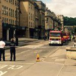 Chemical leak has closed Manvers St in Bath, police say. More soon. http://t.co/IH9wI4kOcS