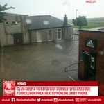 Please note the club shop & ticket office are currently closed due to the inclement weather!  #summer http://t.co/hznDJ5Z3TP