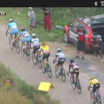 Cobblestones at @letour! Painful. #cycling http://t.co/kIfNvWqFaO