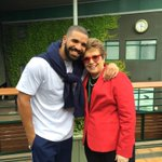 """this made me lol """"@BillieJeanKing: So fun to catch up with @Drake today at #Wimbledon http://t.co/evOWaVmcYO"""""""