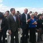 Presidente @MashiRafael presente en la misa campal en el Parque Bicentenario #Quito #FranciscoenEcuador http://t.co/sud3giRRn7