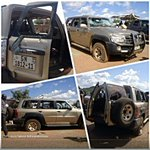 Nissan Patrol riddled with bullets outside NPP HQ in Talensi. @Joy997FM @GhRainmaker @AnnyOsabutey #africanelections http://t.co/YyRhZNAc8T