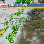 Showers and t-storms likely across #ROC tonight. Tune into 13 WHAM News at midday to find out how long they will last http://t.co/x89tskrqJO