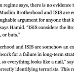 My thoughts on the argument that the Muslim Brotherhood & ISIS are two sides of the same coin: http://t.co/ywyGwjH0HJ http://t.co/mNxc7W7tYn