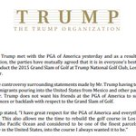 Donald Trump gives up the 2015 Grand Slam of Golf at Trump National in Los Angeles http://t.co/dObfaZy9ul