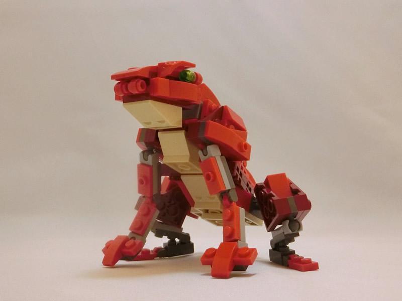 LEGO PlusL 31032キット組換えコンテスト参加作品(08) 「カエル」。鳥獣戯画で話題のカエルをフル稼働のLEGO組換えで! コミカルな動きがつけられます。 #LEGO #plusl1507_31032 http://t.co/Dc005b4UDP