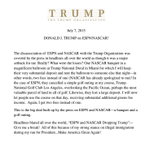 This latest Trump statement on lost business (ESPN/NASCAR) is fantastic http://t.co/ZXvDJn2kZQ