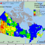 This really puts it into perspective. Check out the fire danger rating in #BC compared to the rest of the country. http://t.co/amJJ8sIs85