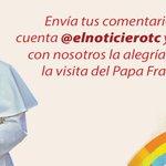 Envía tus comentarios a la cuenta @elnoticierotc y comparte con nosotros la alegría del Papa #FranciscoEnEcuador. http://t.co/iNTQAG3jCu