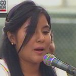 Caroline Espinosa, estudiante católica, se dirige a los presentes EN VIVO ► http://t.co/pLKzI5pIPV http://t.co/3hMM6C6Ror