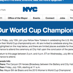 SEE YOU THERE #NYC! #USWNTParade http://t.co/e26s56CNqu