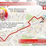 INFORMACIÓN: A las 18:00 @Pontifex_es se desplaza de U. Católica a Plaza San Francisco en Papamóvil. #FranciscoenEc http://t.co/65lEX3UF3J