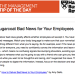 Our management tip of the day: Don't dance around bad news http://t.co/cdLvrKg2yx