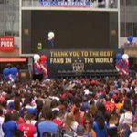 WATCH: Fans gather outside @StaplesCenter for World Cup celebration with @ussoccer_wnt. #USWNT http://t.co/Z9UDmnrPpY http://t.co/PBwqFW6KED