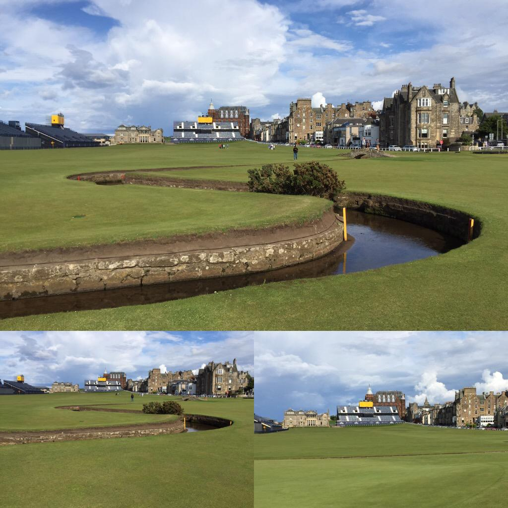 #theoldcourse for @TheOpen in #standrews looked stunning this afternoon #golf #TheOpen http://t.co/SER9BvpOoH