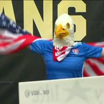 Look whos in LA to greet the world-champion @ussoccer_wnt: the eagle super fan. Watch live: http://t.co/Q37Mk27l0d http://t.co/Rgt41L28cY