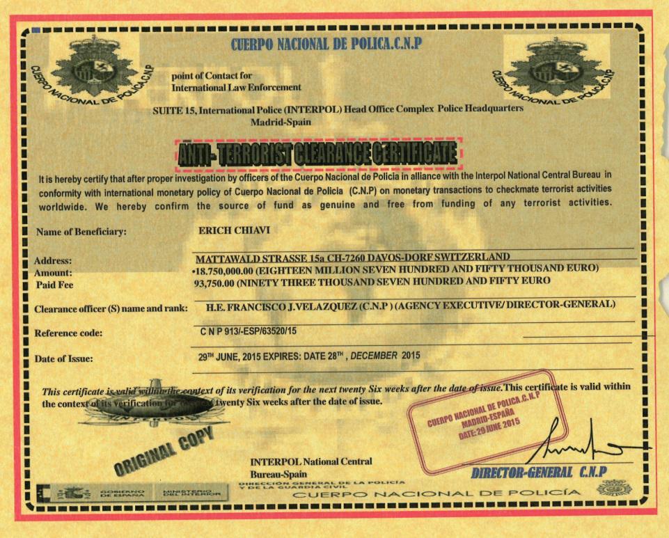 La última versión de carta nigeriana es sorprendente:Un cheque millonario ¡NUESTRO! de lucha antiterrorista #NOPIQUES http://t.co/Hb6q1NNEBT