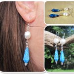 New! #Handmade Sterling Silver Earrings with Blue Lace Agate & Fresh Water Pearls http://t.co/KnhEZOntHT http://t.co/ghrWw77zeC #etsymntt 4
