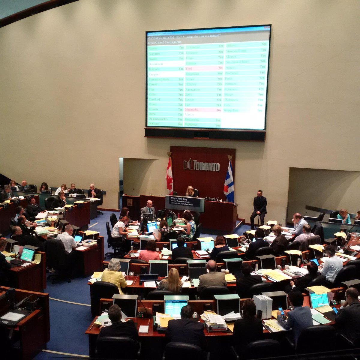 #Toronto City Council votes to adopt first ever Poverty Reduction Strategy. #TOProsperity http://t.co/wPvf7Qp9wL