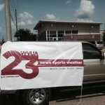Amazing job of banner hanging! Well have 1000 fans in NO time! Come see me at Salvation Army #Tuscaloosa @wvua23 http://t.co/O9nTZuSLjc