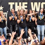 The #USWNT World Cup victory was celebrated in Los Angeles this morning http://t.co/guXSAvnTET