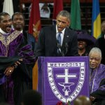 "Michelle Obama thought @POTUS singing ""Amazing Grace"" was a bad idea: http://t.co/NQH65z9egG http://t.co/QLWjxKTTvN"
