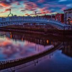 Goodnight Dubs ! #LoveOurCity #HaPennyBridge #Dublin #Home @LovinDublin ???? http://t.co/j9UUQH3Fgn