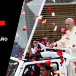 """Papa lanza apremiante llamado desde #Quito a no ignorar a la """"madre Tierra"""". http://t.co/6NqMhjIgKJ http://t.co/wJzO435azL"""