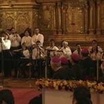 Orquesta Sinamune interpreta melodías nacionales al #papaFrancisco en la iglesia San Francisco #Quito http://t.co/N7VJA9ok8v