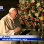 """.@Pontifex_es: """"El amor se demuestra en las obras, más que en las palabras"""". #FranciscoenEcuador http://t.co/FtTlUYSWMW"""