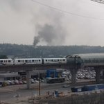 #burnaby fire as seen from roof of sears brentwood. Can see water from hoses too. http://t.co/oNU7Bnn9Z9