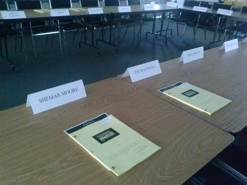 It begins... Table read #season11 #episode1 #CriminalMinds @shemarmoore @JoeMantegna http://t.co/wdYZ6pouJV