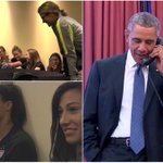 VIDEO: Barack Obama calls the #USWNT after their World Cup win, invites them to White House http://t.co/o3vcTGNWwu http://t.co/cPARDU4KS2