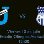 Próxima partido @UCatolicaEC vs @CSEmelec Viernes /10 12:00 Estadio Atahualpa @Emelec #UC. http://t.co/hnZqToFyJs