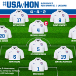 #USMNT Starting XI for tonights #GoldCup2015 opener vs. Honduras. #USAvHON #KeepTheCup http://t.co/6XM8ZWQdtr
