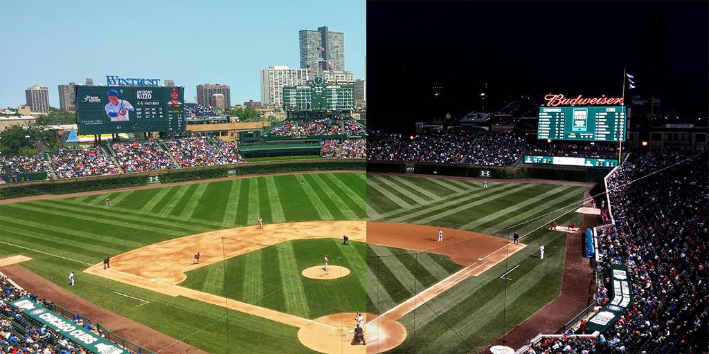 The scene at Wrigley today. #LetsPlayTwo http://t.co/RpuABpE9lL