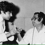 A moment I cherish - with Kishore Da at recording of Yash Johars Duniya http://t.co/GeFYqxUVwY