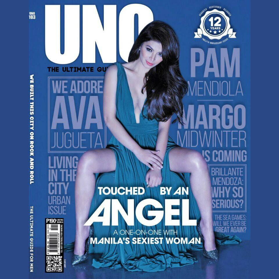 How do we celebrate 12 years? We get @143redangel to pose for UNO's 12th anniversary issue. #AngelforUNO #UNO103 http://t.co/M93ZYShgk2